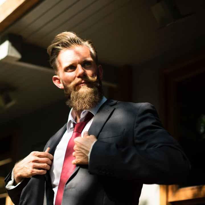 adult beard businessman confidence