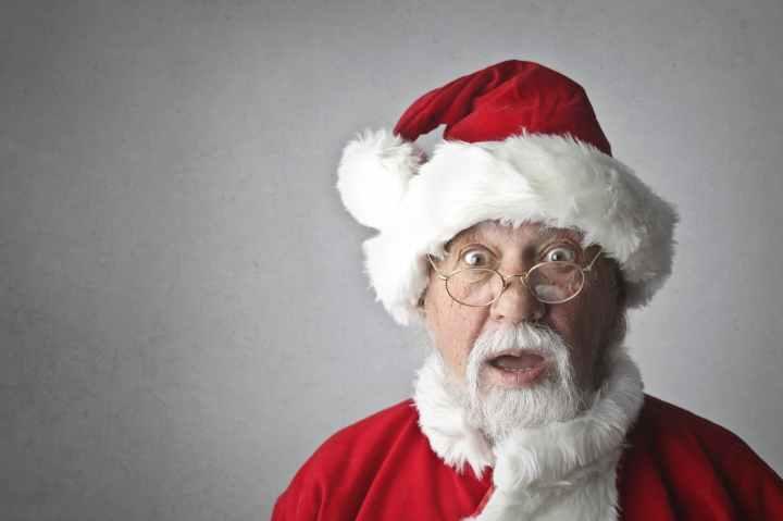 man in santa claus costume